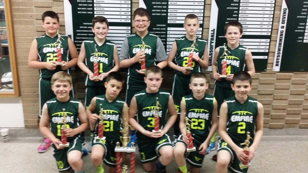 5th Grade Boys Champions- Empire
