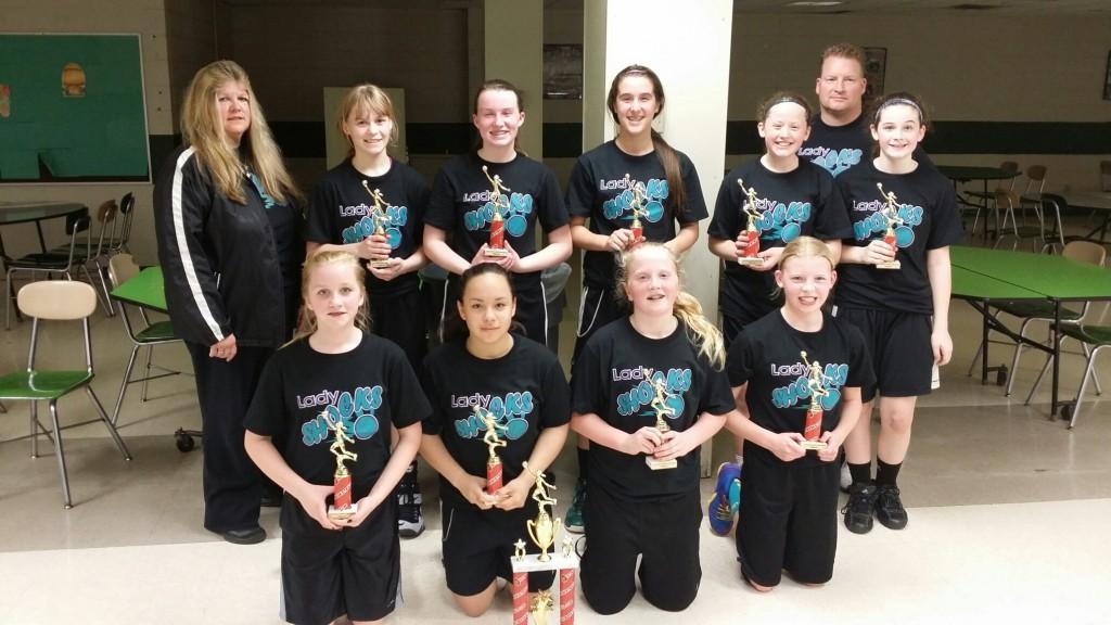 7th Grade Girls Runner Up- Lady Shocks