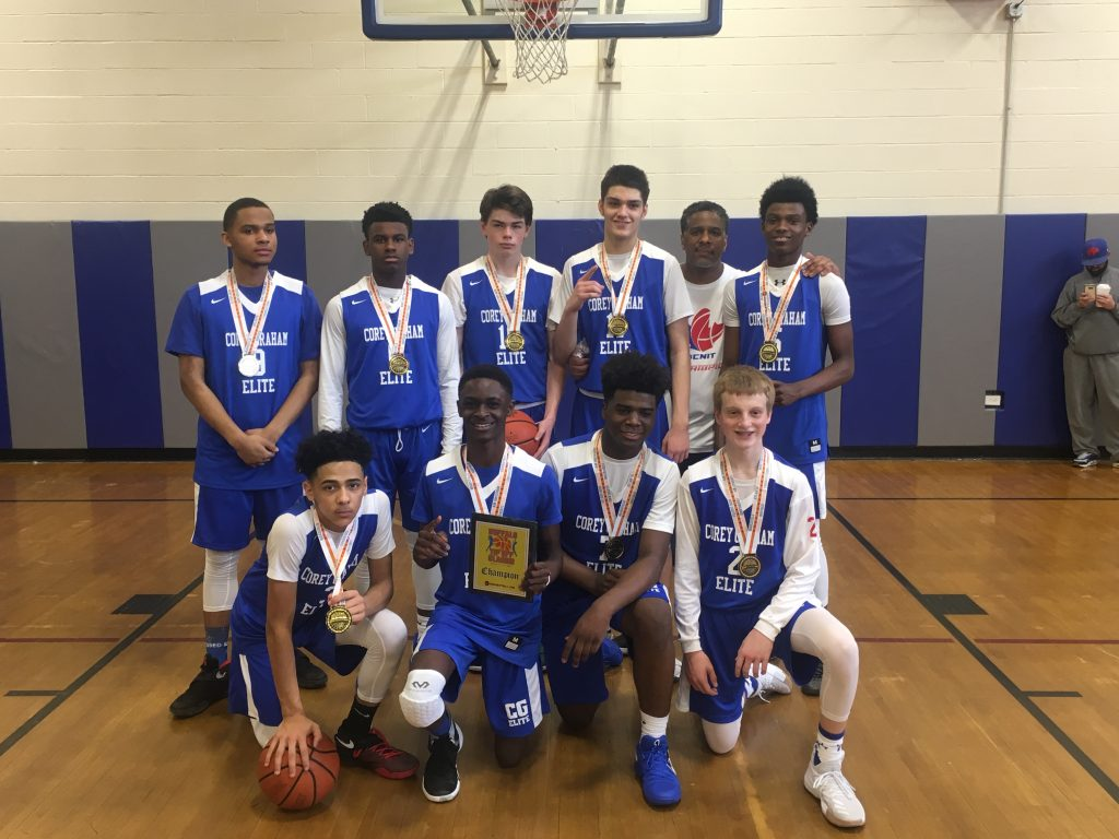 10th Grade Boys Champions- Corey Graham Elite Blue