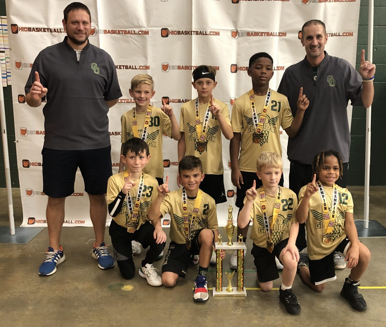3rd Grade Boys B Champions glen oak green