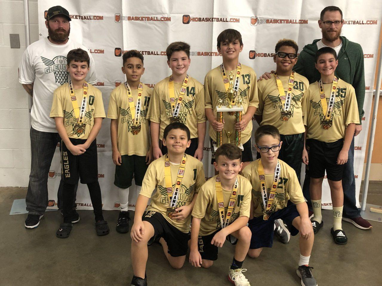 4th Boys B Gold Champion Glen oak eagle
