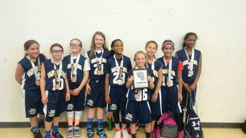 4th Grade Girls Champions_ DG Warriors