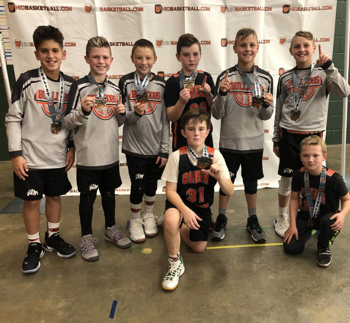 5th Grade Boys A Silver Champions Green Bulldogs