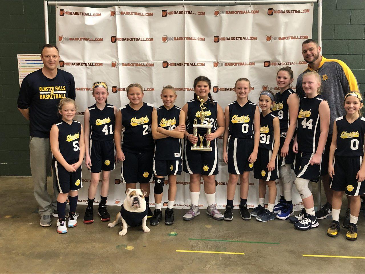 5th Grade Girls Runner-Up OF Bulldogs