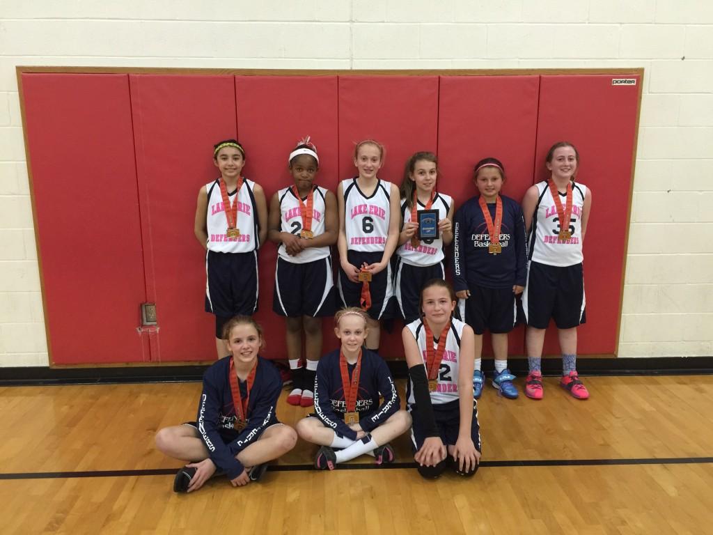 5th girls runners up  Lake Erie Defenders