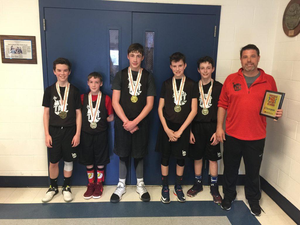 6th Grade Boys Champions- TNT Dynamite