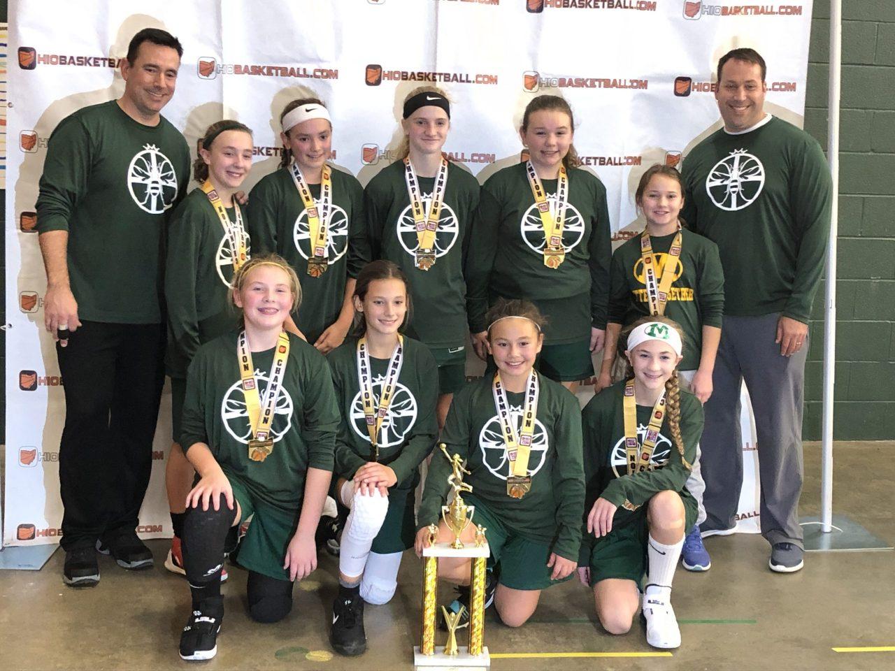6th Grade Girls Gold Champions Medina green